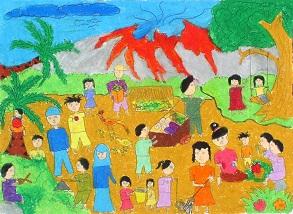 Gotong Royong. Karya Wilujeng Ari Kurniawati